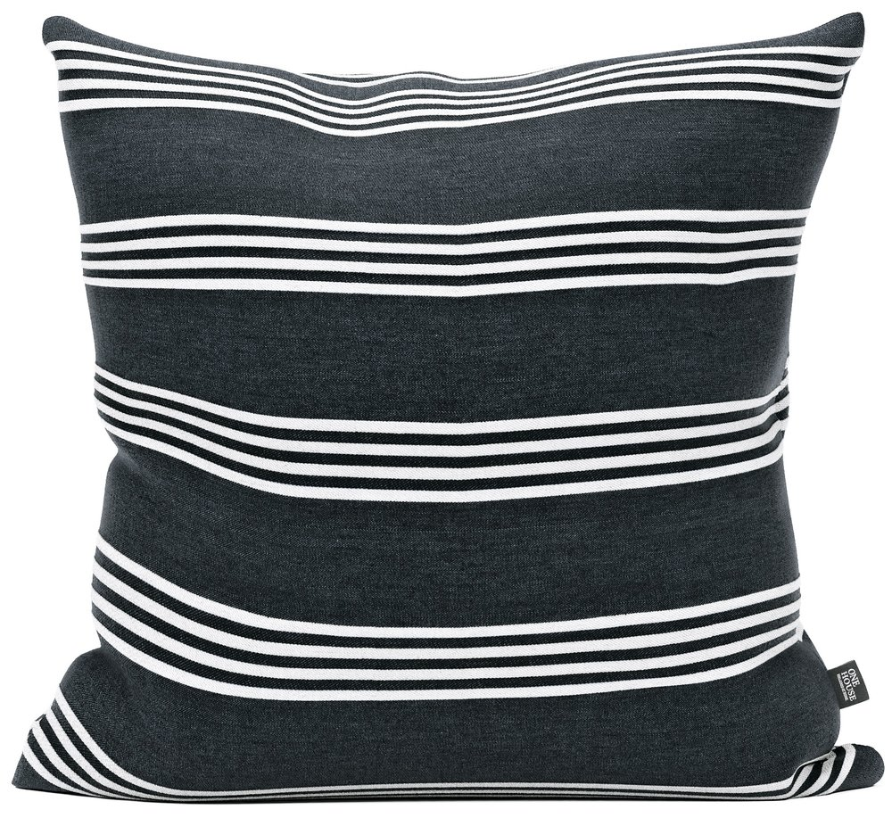 Regatta stripes - Simple blocks of stripes give the pillow distinction while remaining a versatile and classic addition to your collection.