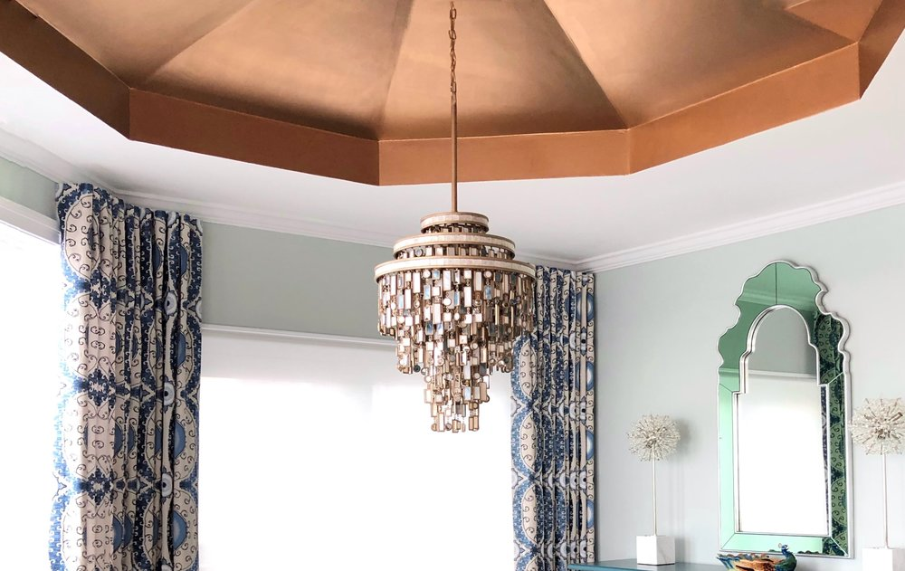 Seaside opulence with this jewel sea glass like chandelier taking center stage. A coastal palette with intensity for upscale dinner parties. This project features some scenarios accessorized by our new MKL #Styleup program. It is a Luxury service to refresh your home with new accessories. This service is great for pre-holiday decorating or the opening of vacation homes for the season. Send us a note if your interested in learning more.