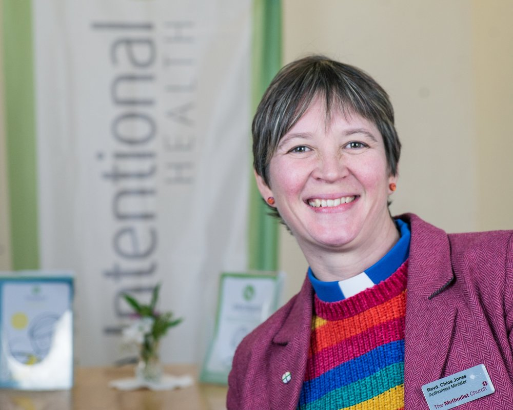 """Why the church? - """"Church isn't about getting bums on seats on a Sunday morning, it's about meeting people regardless of their background or beliefs and walking alongside them until they believe that they are both loved and loveable. Intentional Health is a way that the love of God can be demonstrated by living the basic command to love one another"""""""