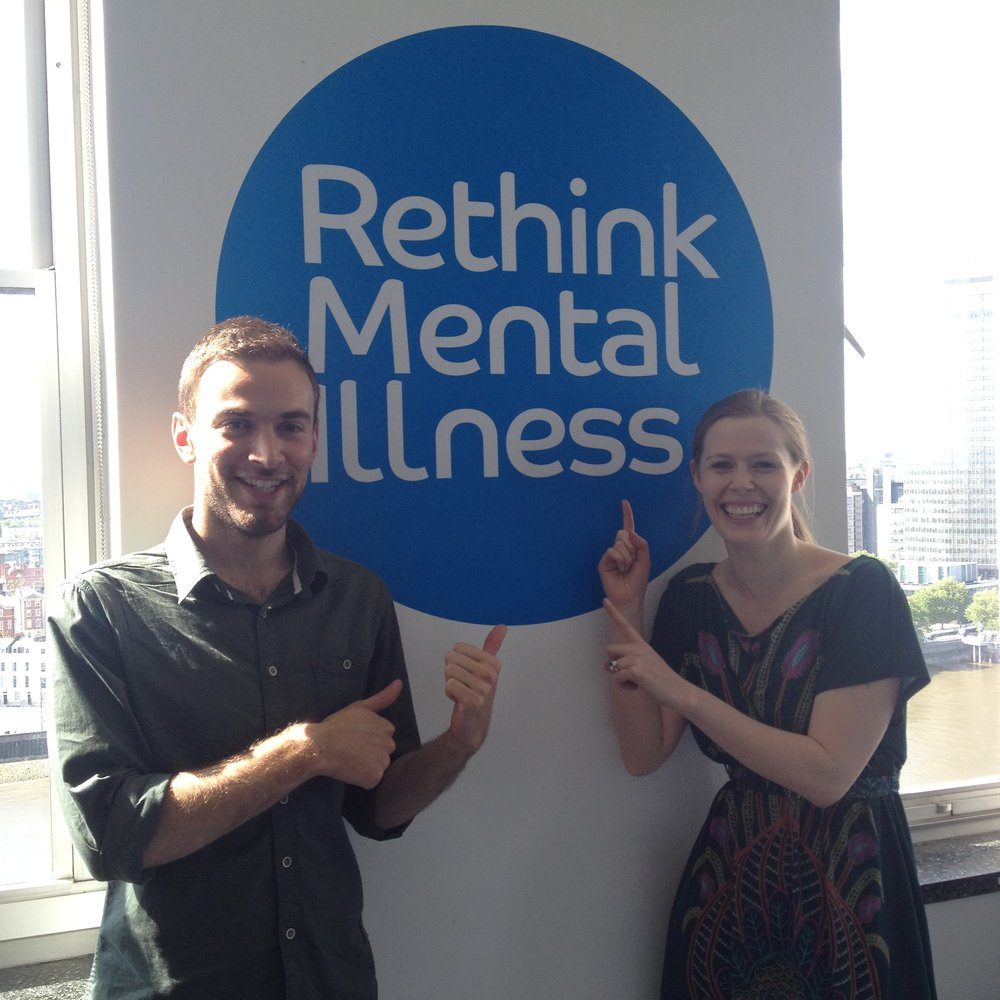 Johnny Benjamin and Fiona Geddes at Rethink