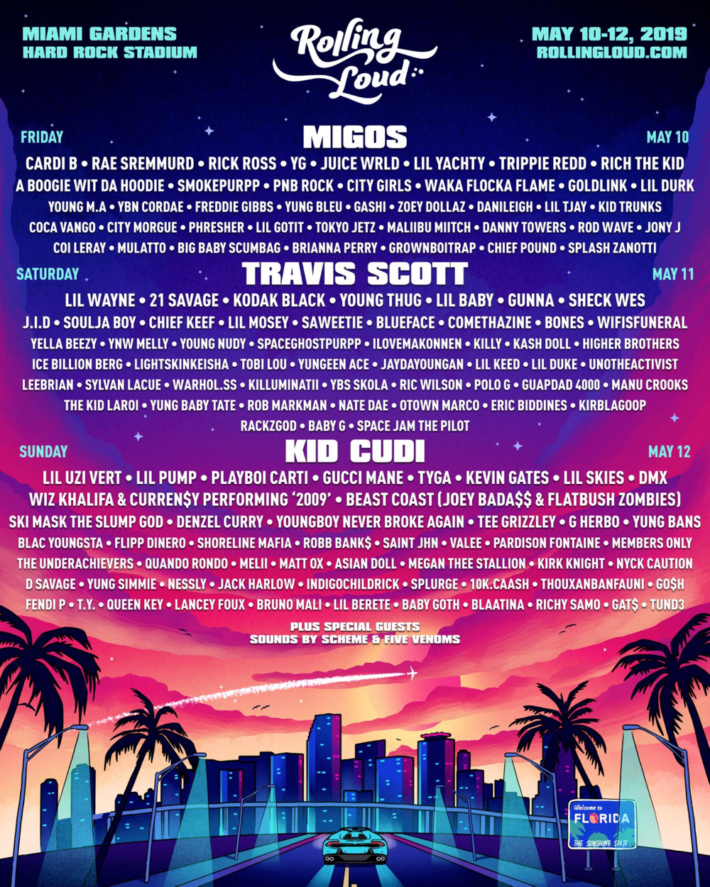 Rolling Loud Miami 2019 Lineup