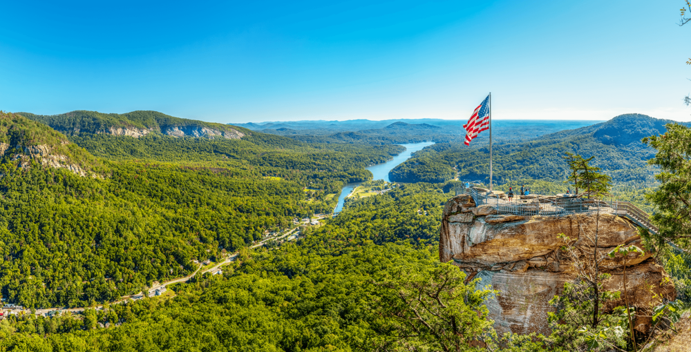 Chimney Rock and Lake Lure | Chimney Rock State Park | Blue Ridge Mountains | Travel Book | Lavilo®