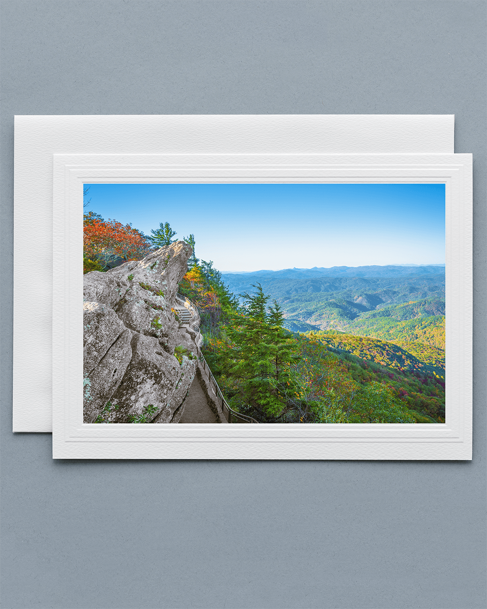 Send a lovely Greeting Card with a real photograph of The Blowing Rock - All Greeting Cards are handmade by us in the U.S.A.