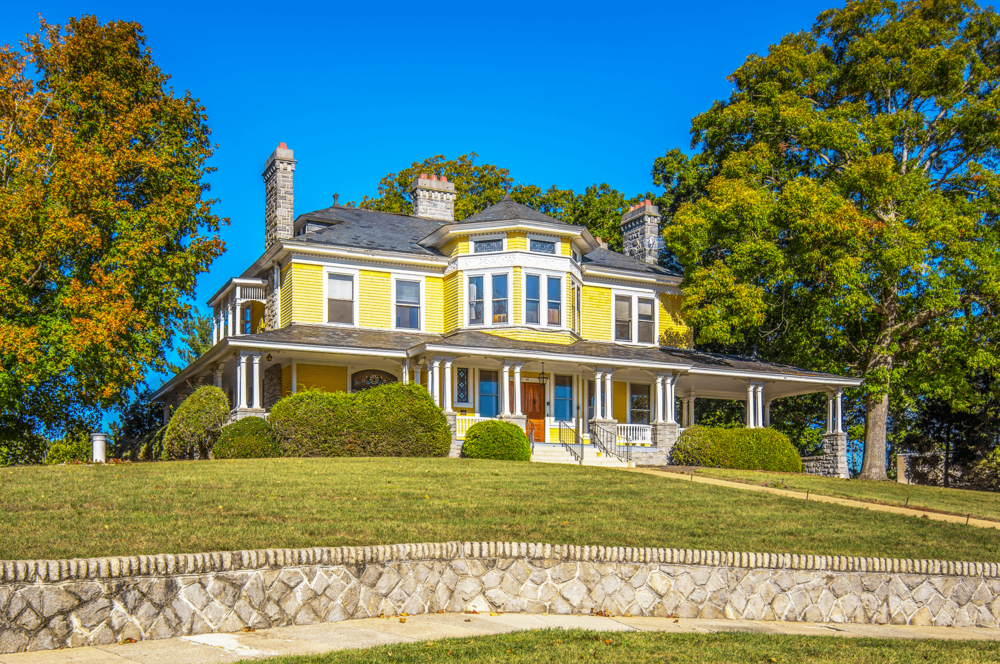 The Rumbough House is beautifully situated on a hilltop.