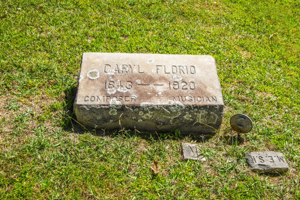 Caryl Florio was William James Robjohn's pen-name. He was a famous composer, organist, and pianist and between 1896 and 1901 was the musical director at  The Cathedral of All Souls  in Biltmore Village.
