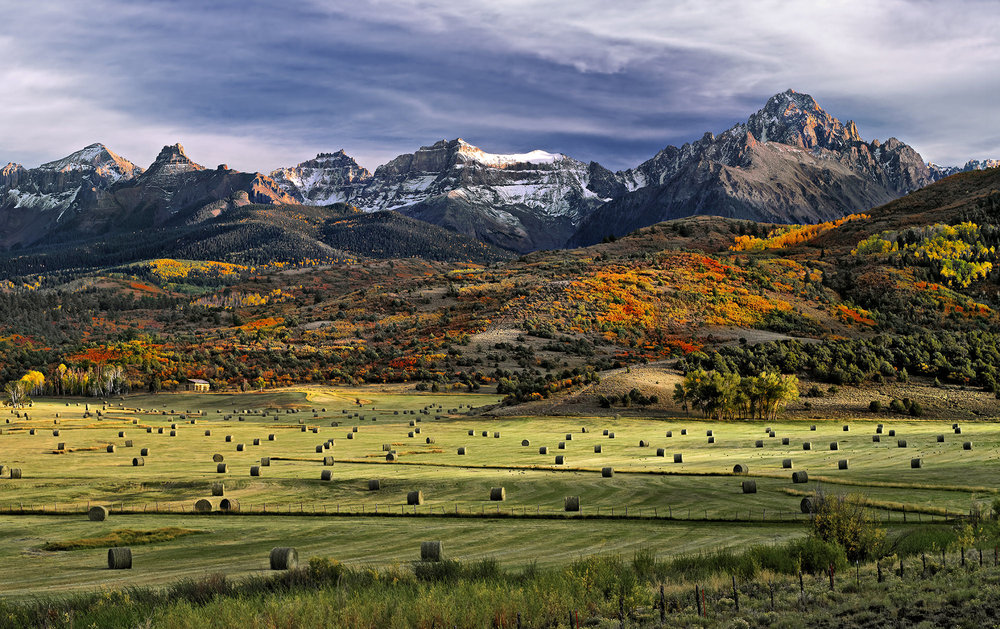 Haystacks on country rd #9 - Near Ridgway, CO