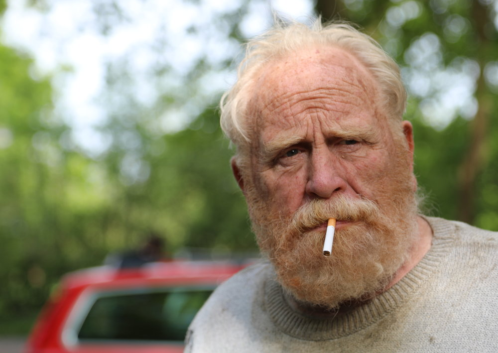 James Cosmo on Off Grid film set