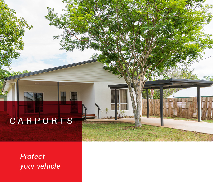 carport in driveway of house