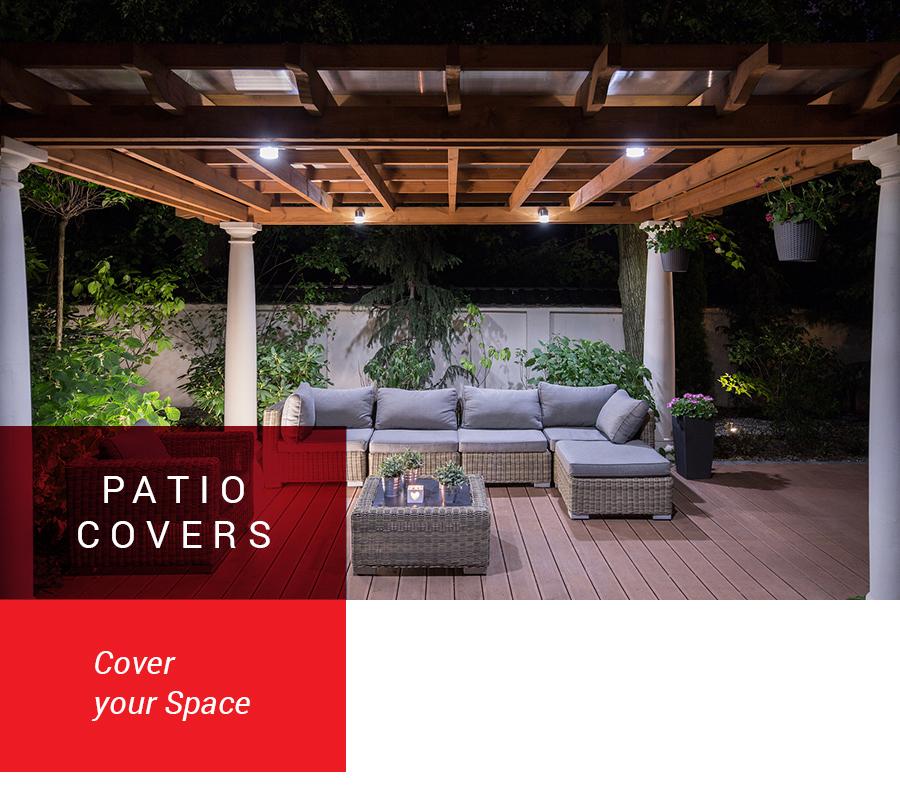 pergola covering a patio