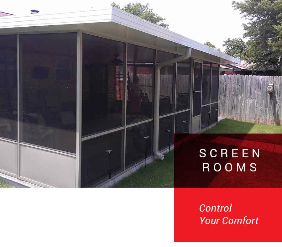 covered screen patio