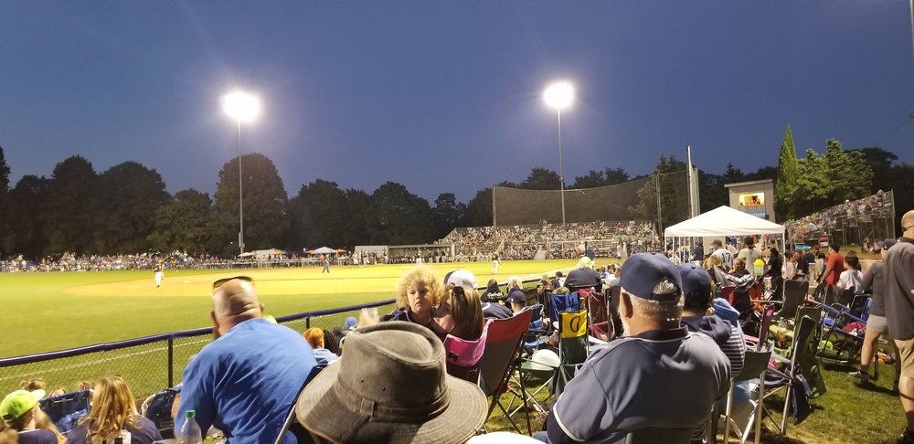 View from the Adventist Health Portland family berm in Left field.