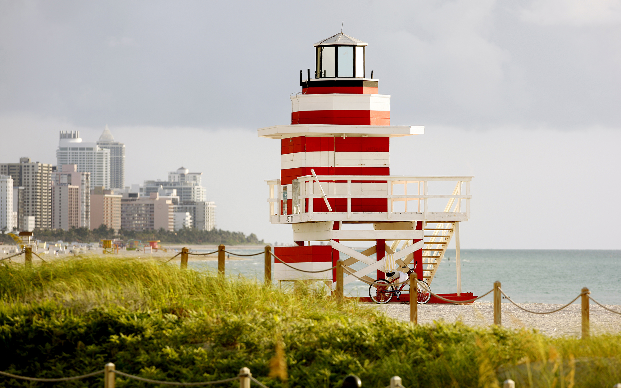 South Beach Art Deco Lifeguard Station (Photo by Hoberman Collection/UIG via Getty Images)