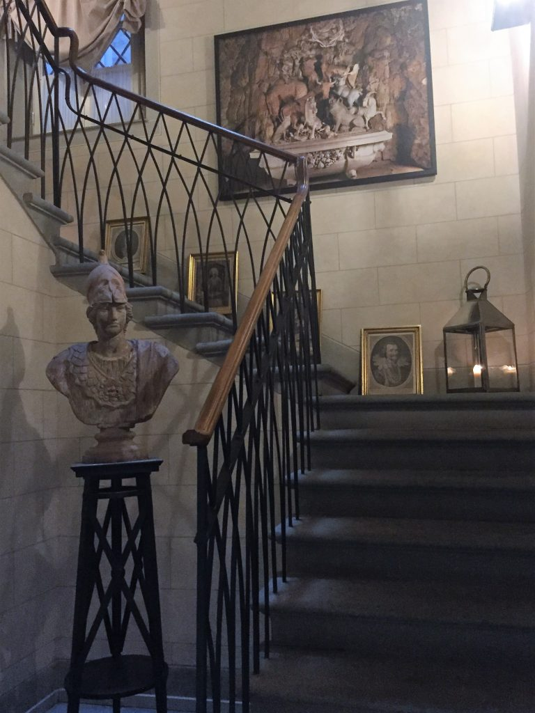 Townhouse style living comes with a grand staircase...