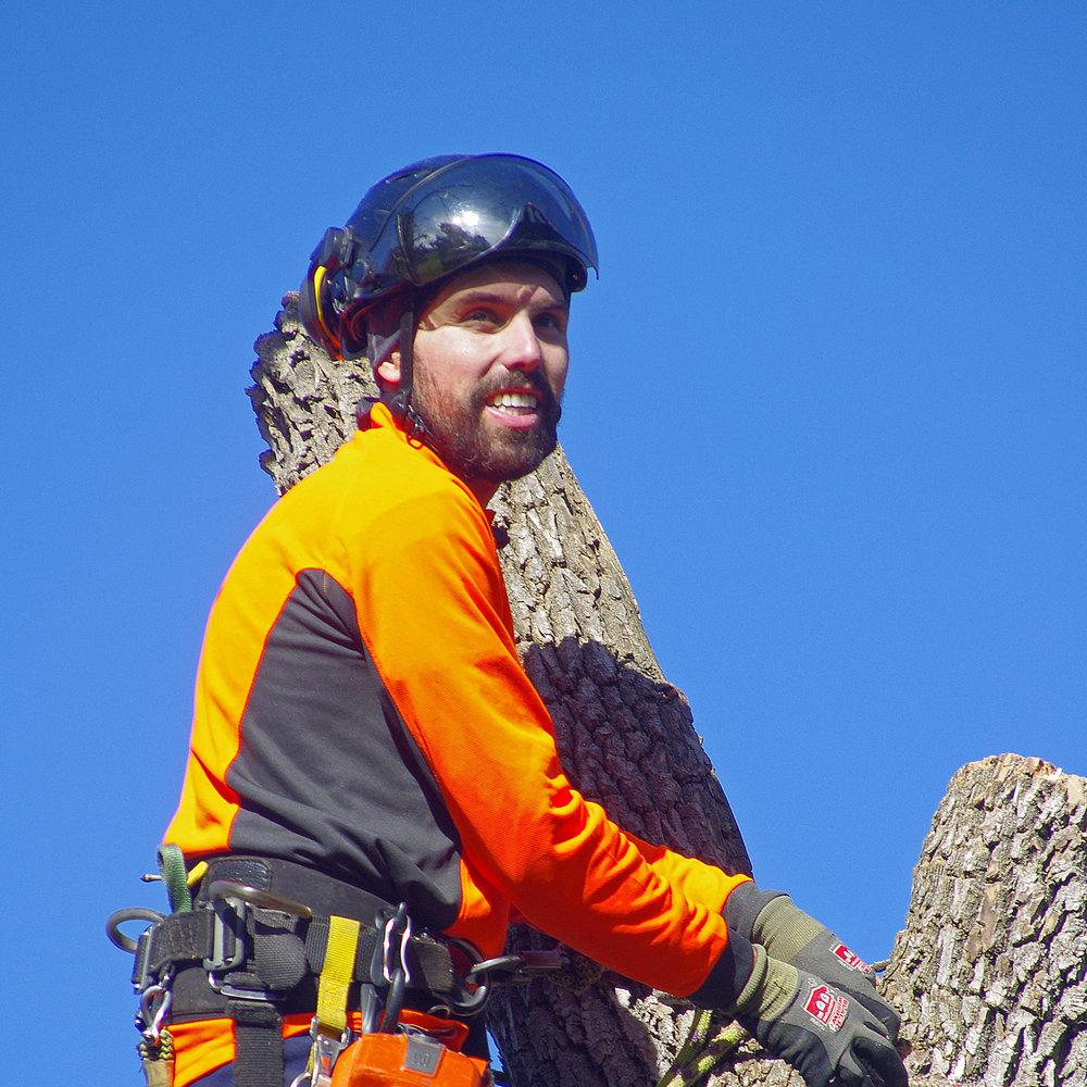 Christian,arboriculteur-élagueur - 12 années d'expérience dans le domaine, Formation: DEP en arboriculture-élagage au Centre de formation horticole de Laval, certifié et membre ISA