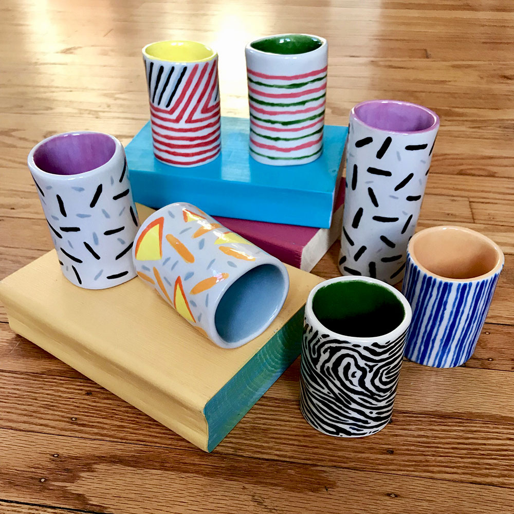 Independent Studio Projects, Veronica Hanssens: Cups with ceramic & mixed-media books