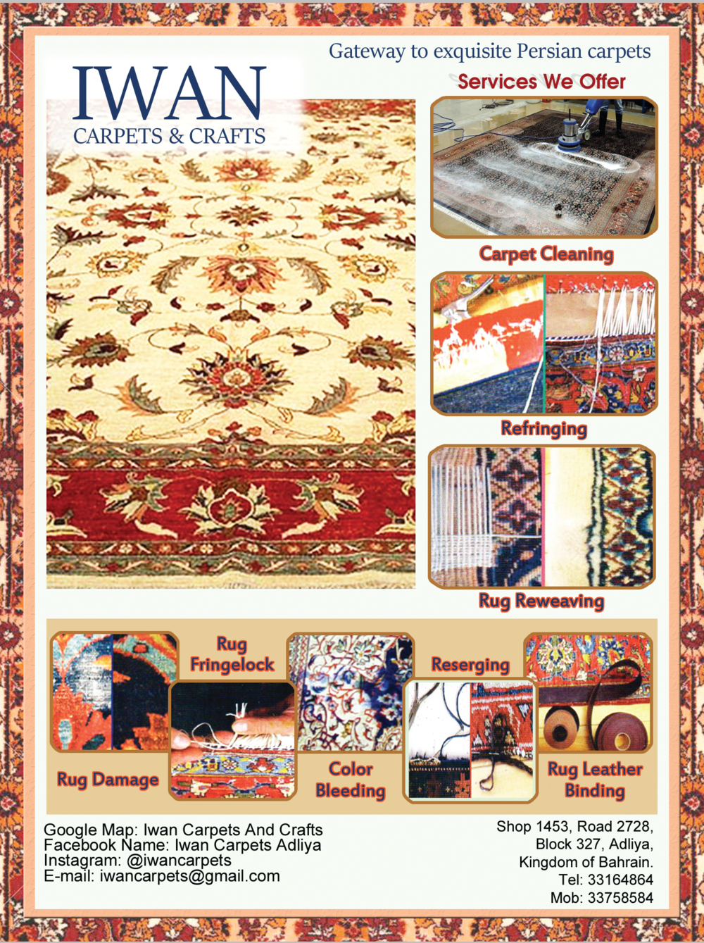 Services Offered - In-addition to cleaning carpet we also offer services to proper maintain your value-able carpets for many more years.