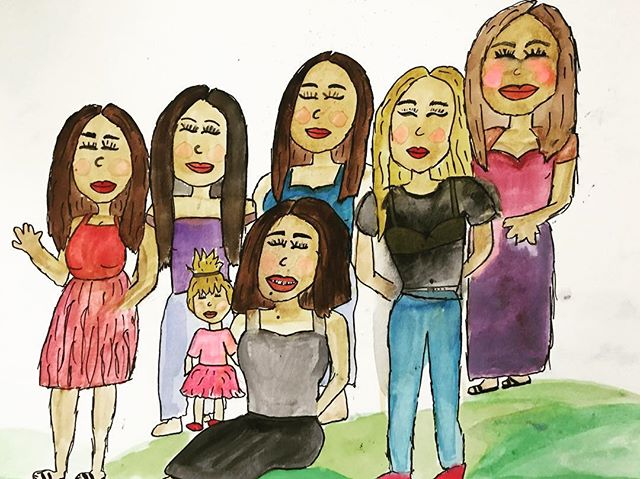 #badart #groupportrait #girlgang #watercolors
