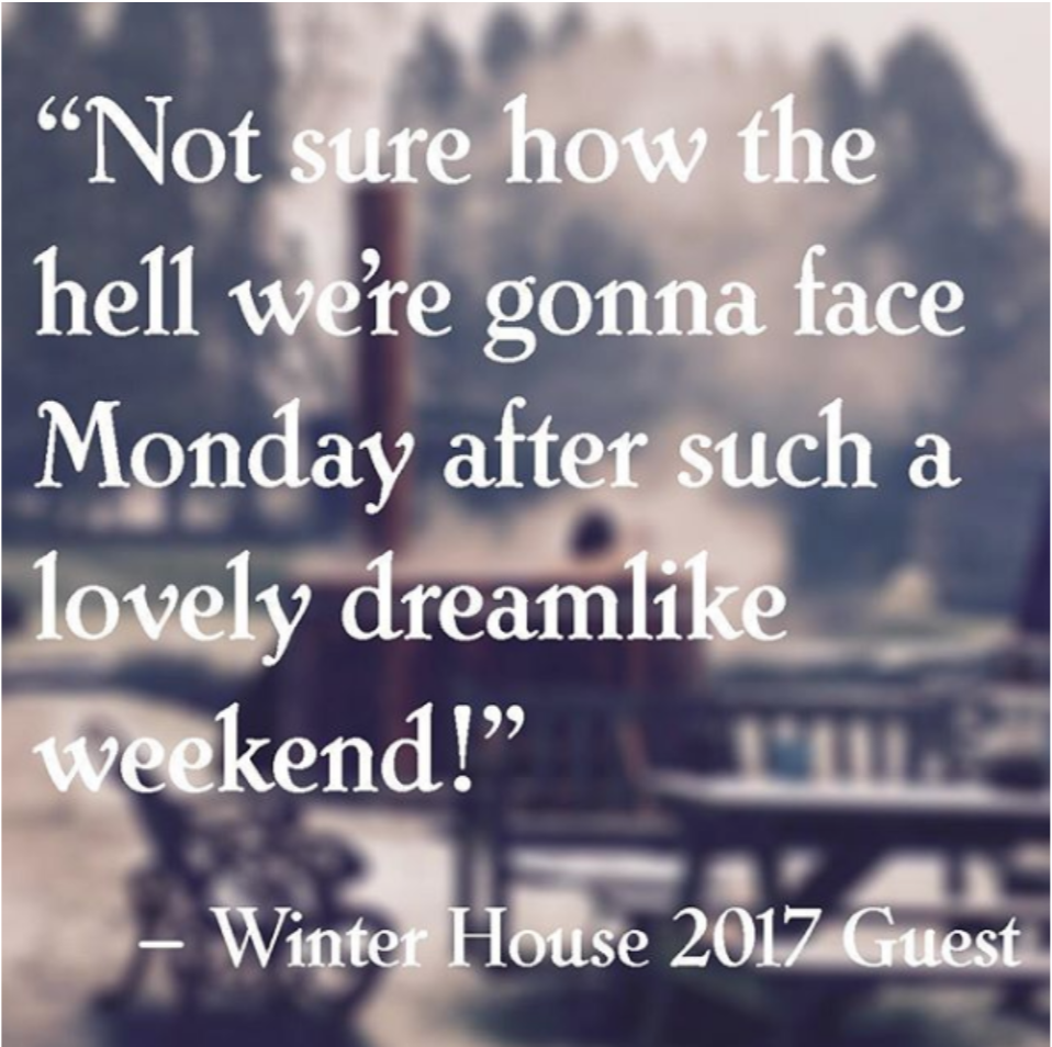 Not sure how the hell we're gonna face monday after such a lovely dreamlike weekend!