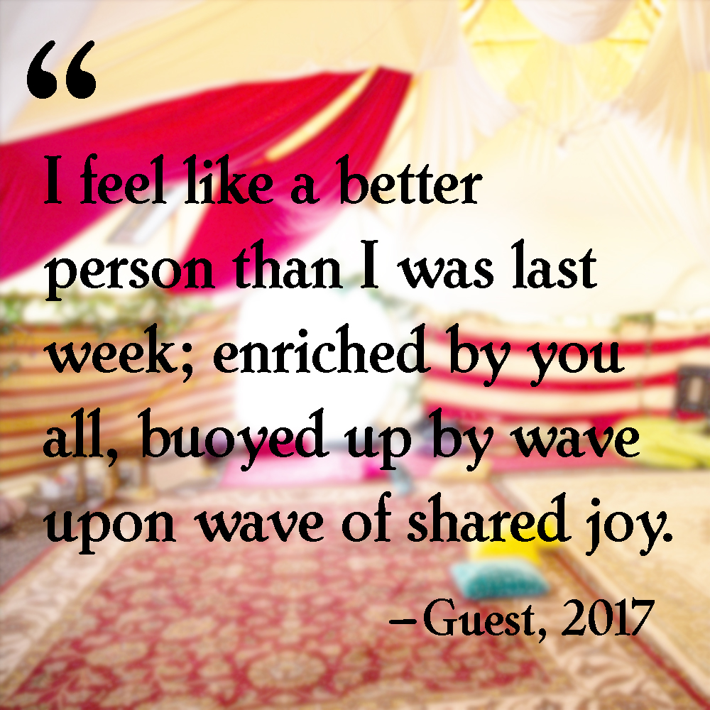 I feel like a better person than I was last week; enriched by you all, buoyed up by wave upon wave of shared joy.
