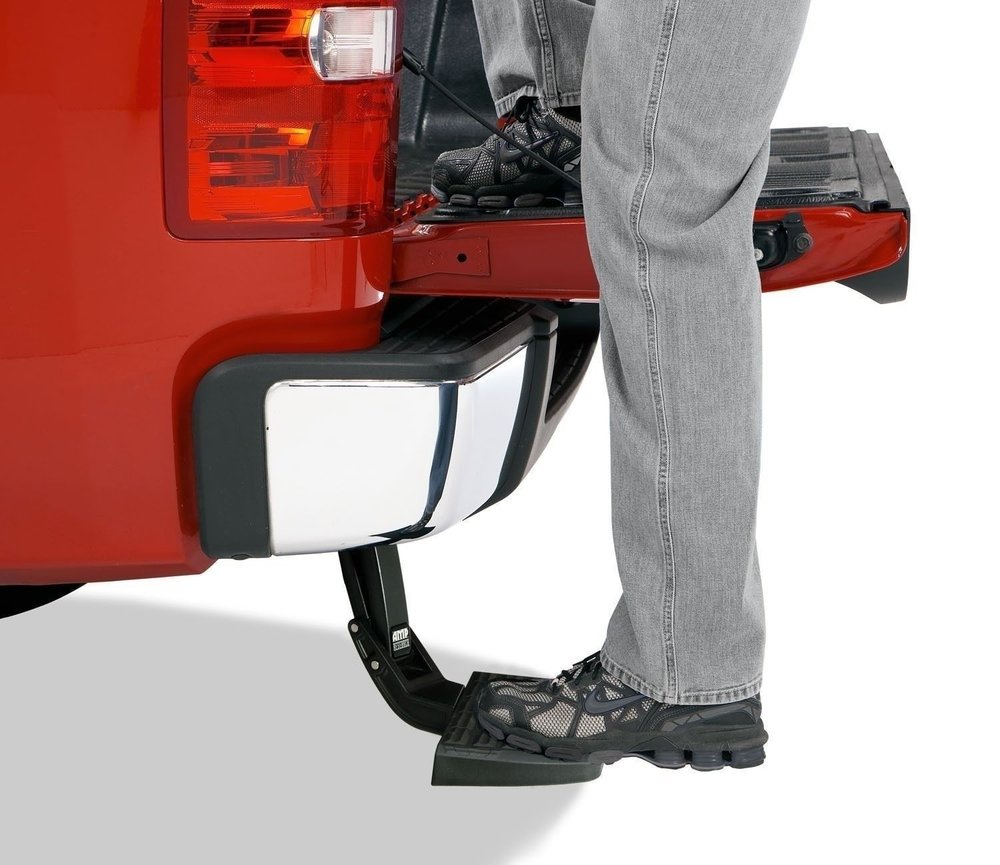 BEd step - Quickly access your truck bed with a bed step. Folds up for when not in use.