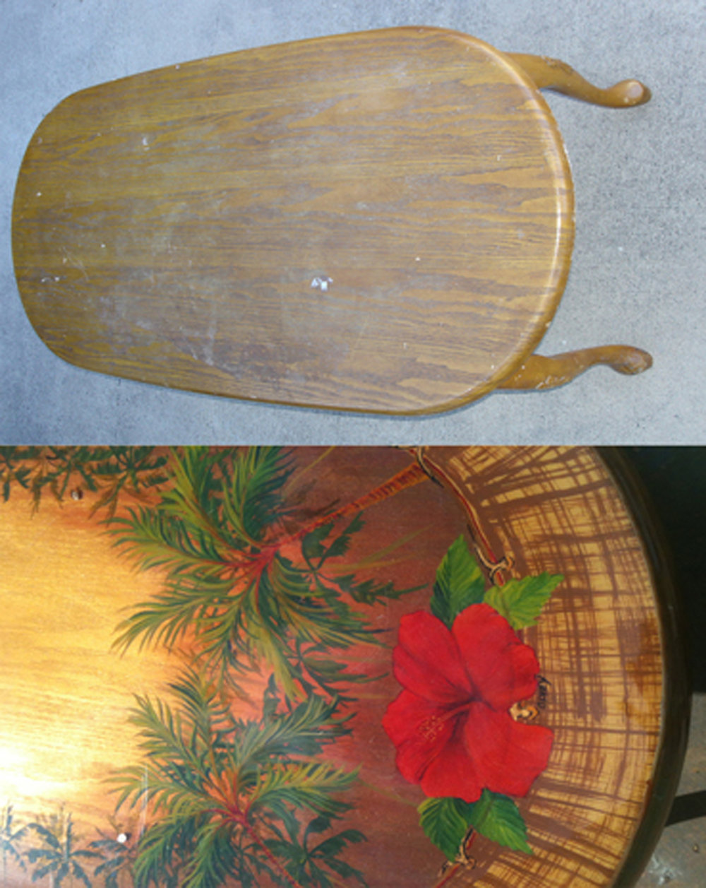 Hibiscus table before and after.jpg