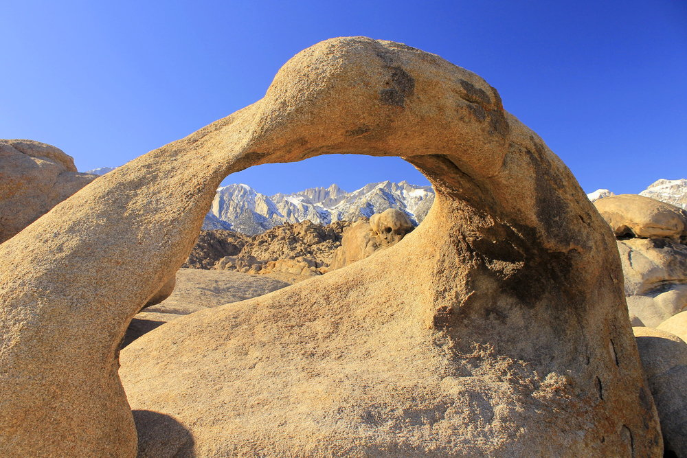 Mobius Arch and Mount Whitney - Alabama Hills, California