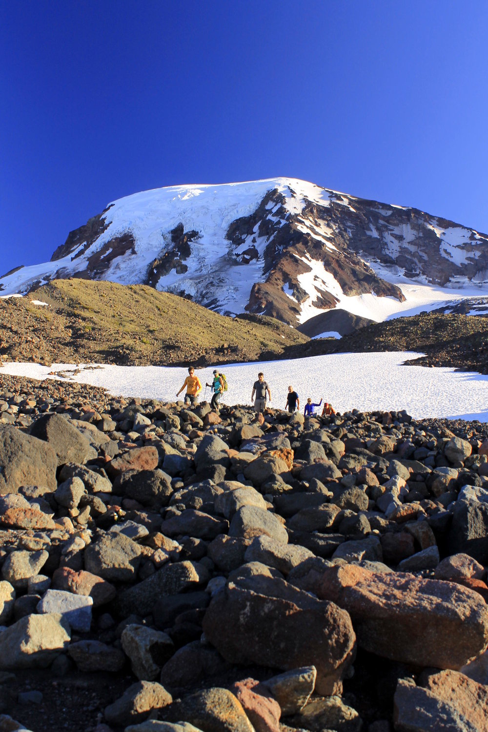 Hiking south of Foggy Flat towards Devils Garden on the northeast side of Mount Adams.