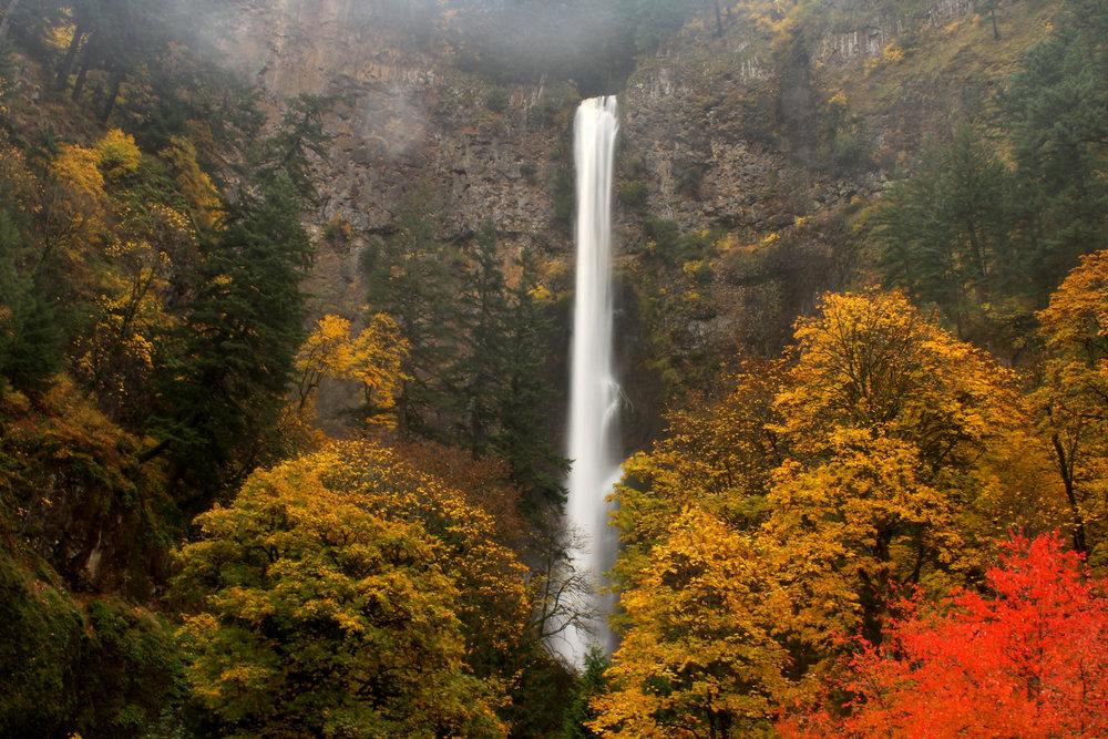 Multnomah Falls in early November.
