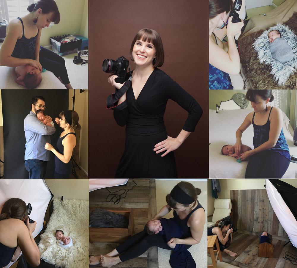 JuLIA CHRISTINA photographing newborns!!
