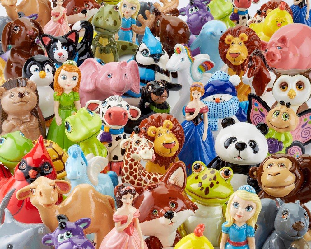 assorted figurines - happygolucky