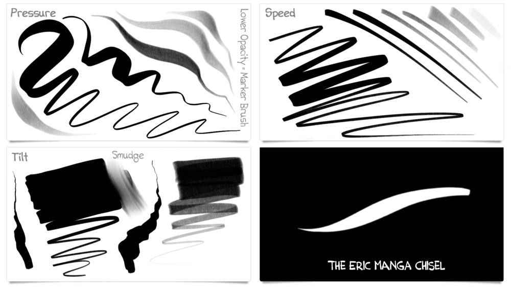 Eric Manga Chisel Brush