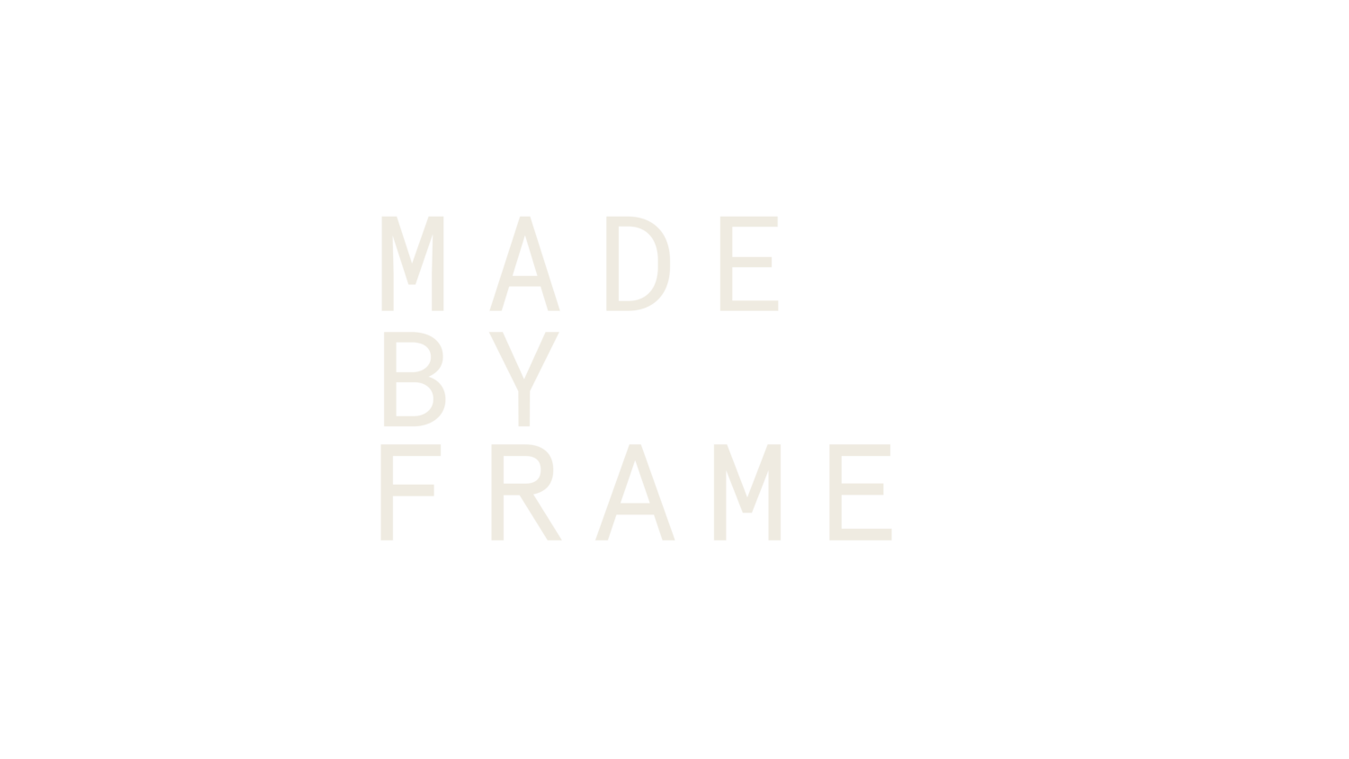 Made by FRAME | Custom Designed Pre-Made Websites