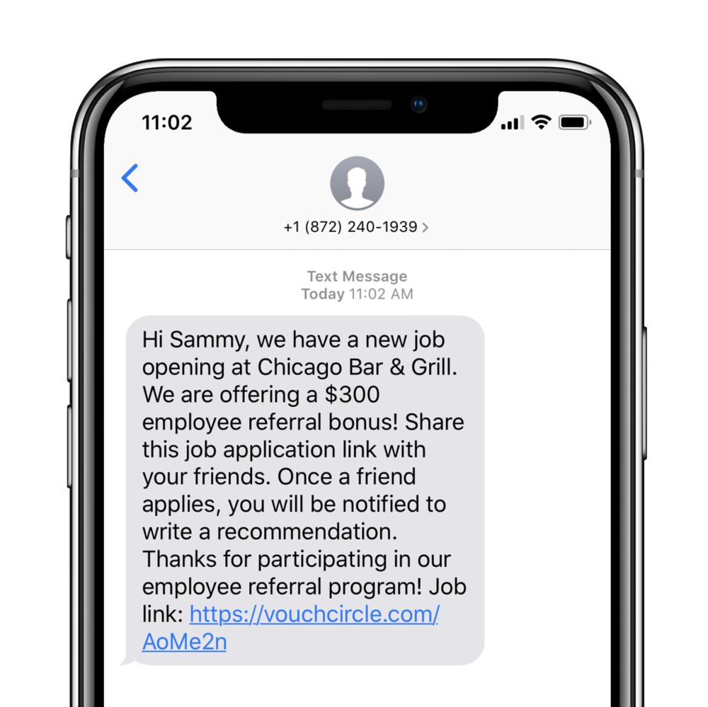 Share job application links - Receive text messages whenever Chicago Bar & Grill has new job openings.Share job application links with your friends. Post on Facebook, WhatsApp, WeChat, etc.