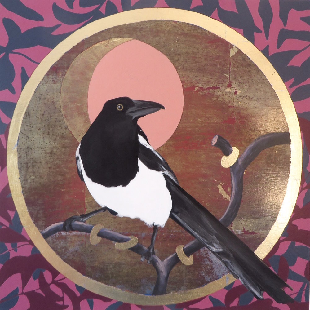 Magpie With Rings