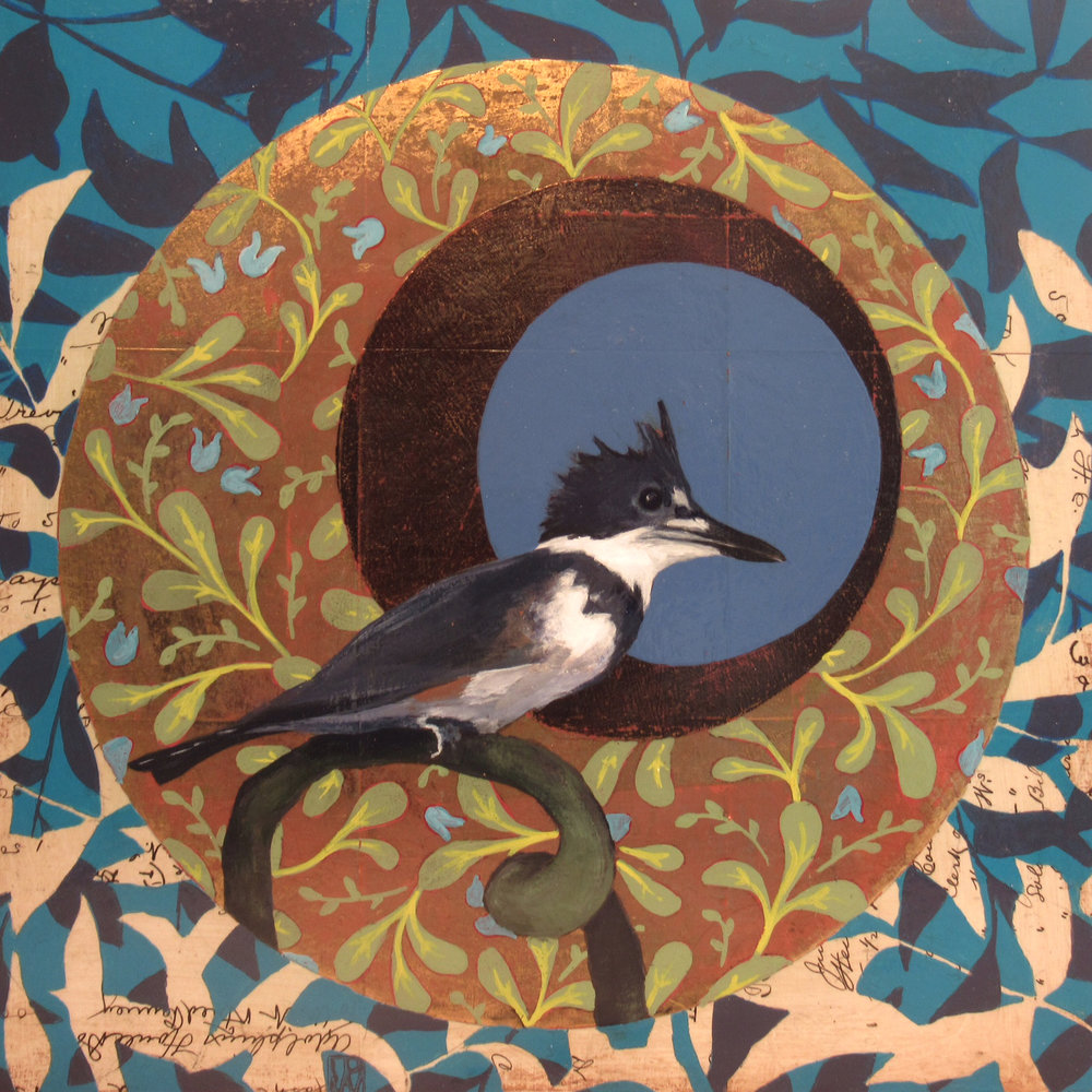 Victorian Spiral - Kingfisher