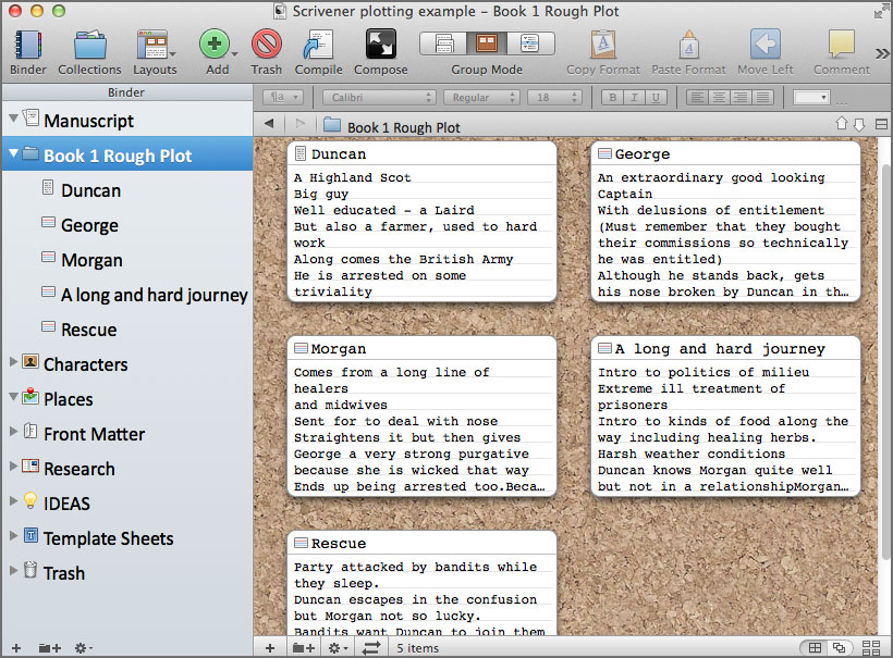 scrivener writing software 5