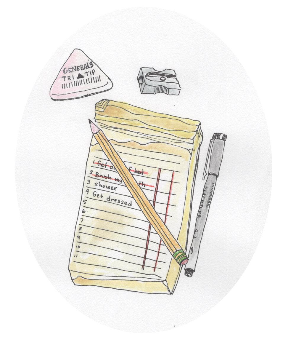 - Goal: Write a to do list for the next dayReality: I am less productive than I think I am