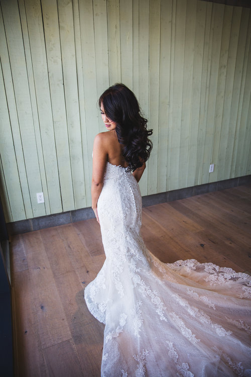 Bridal down hairstyle