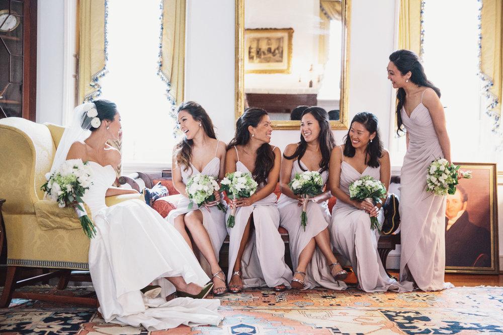 Asian bridal party hair and makeup