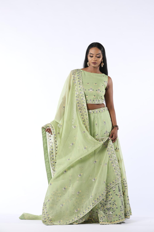 Indian Bridal Green Bridesmaid