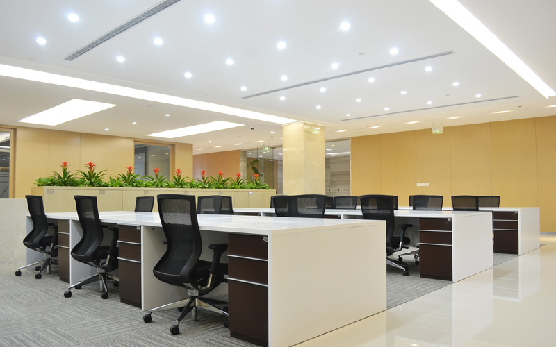 Resource Financial - 76% Wattage reduction throughout entire office spaceUp to 10 years of zero maintenance3 year payback