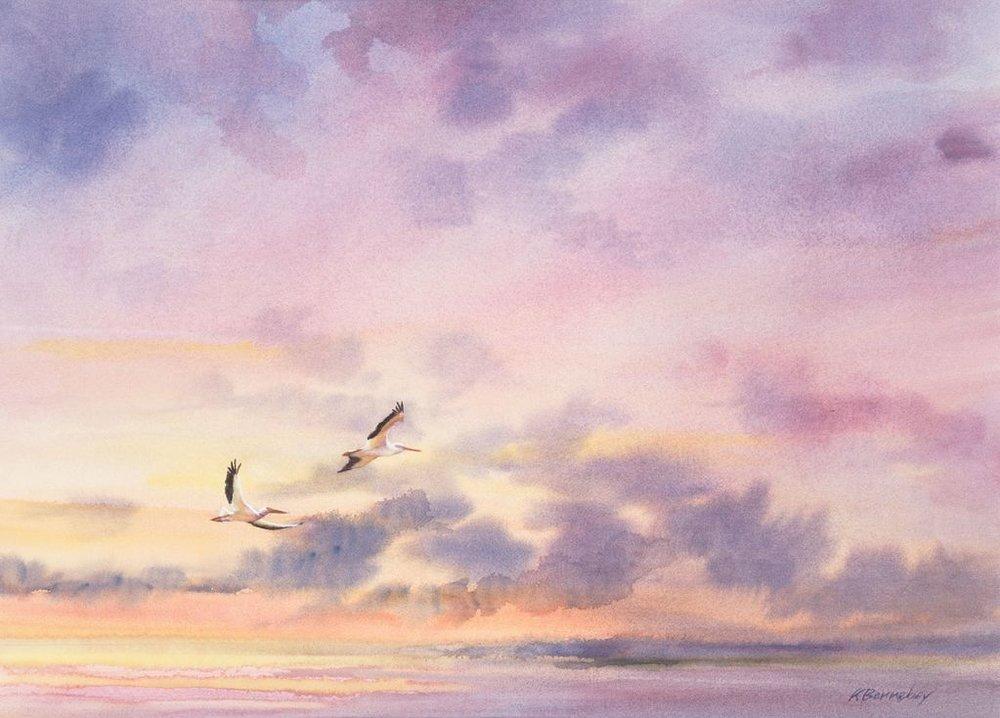 Kay Barnebey    Pelican Sunrise