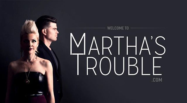 Custom website #banner and logo for @marthastrouble Photography 📷 by @godwin.photography #caitlincarrolldesign #websitebanner #website #graphicdesign #band #brandidentity #logo #logodesign #marthastrouble
