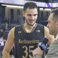 Falzon's Offensive Explosion Leads Northwestern Past Indiana