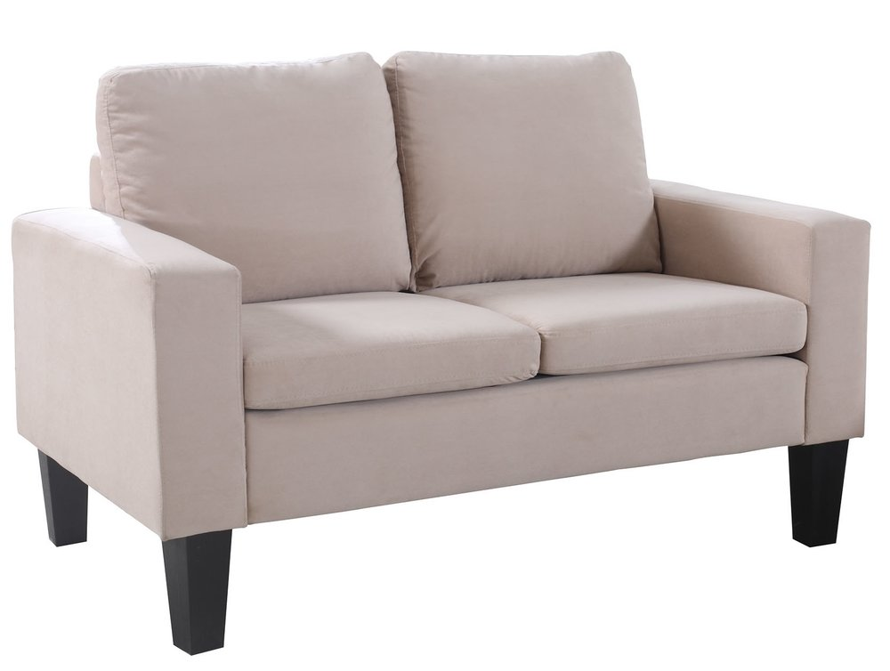 T he Sarah Loveseat has a sturdy silhouette and blends modern and traditional styles easily. Originally $499 it's a STEAL for holiday 2016 at $189!