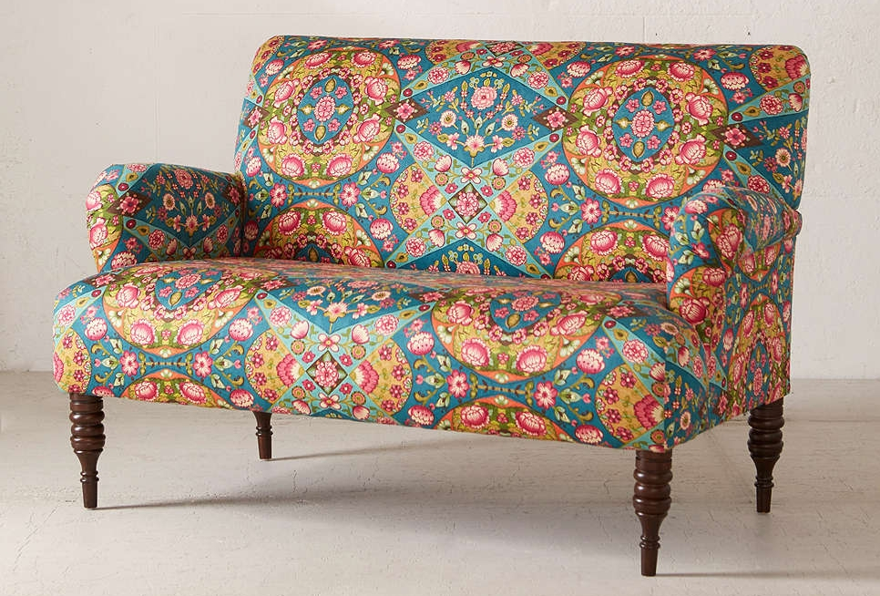 Oh, how fun are you?!? (Who said furniture shopping was boring?) There is nothing boring about this beauty. Filled with character from the rolled arms, to the turned legs- and that PRINT!- The Nicola Loveseat is to die for. Add this piece to your home if you're looking for a focal point, need inspiration for a new design, or just need to keep up with the rest of your eclectic style ;)