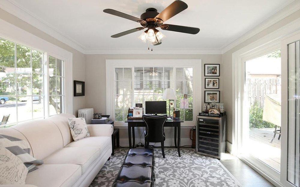 sunroom office traditional cream sofa