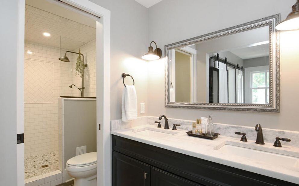 master bathroom hotel double sinks
