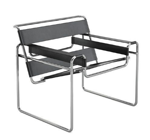 Marcel Breuer,  Wassily Chair, also known as the Model B3 chair. Designed 1925–1926