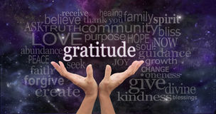 infinite-gratitude-female-hands-reaching-up-night-sky-word-floating-above-surrounded-word-cloud-wise-48459374